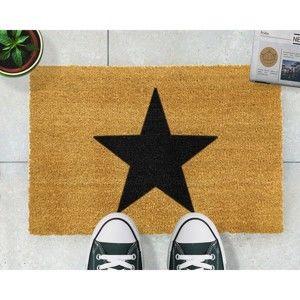 Rohožka z přírodního kokosového vlákna Artsy Doormats Star,40x60cm