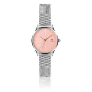 Dámské hodinky s páskem z nerezové oceli ve stříbrné barvě Paul McNeal Sassito