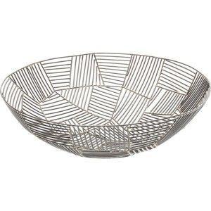 Černá mísa z oceli Kare Design Outlines, ⌀42cm