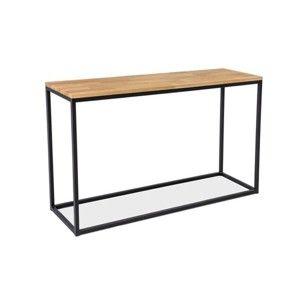 Odkládací stolek s deskou v dubovém dekoru Signal Loras, délka120cm