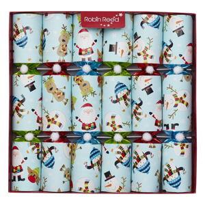 Sada 6 vánočních crackerů Robin Reed Racing Snowman