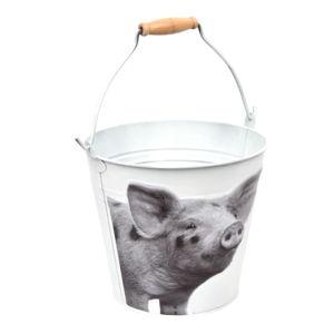 Kyblík Esschert Design B&W Pig, výška 19,9cm