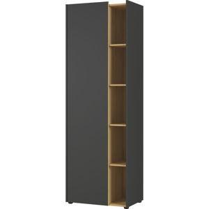 Černo-hnědá skříňka Germania Austin, výška 188 cm
