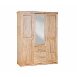 Skříň se zrcadlem z masivního borovicového dřeva Interlink Celso