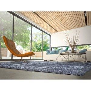 Modrý koberec vhodný i na ven Universal Aloe Liso, 80x150cm