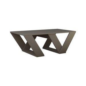 Šedohnědý konferenční stolek Homitis Pipra