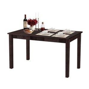 Tmavě hnědý jídelní stůl z masivního dřeva Støraa Jamie
