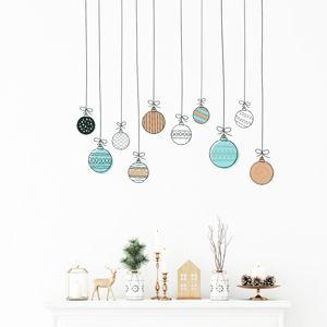 Nástěnná samolepka Ambiance Christmas Balls, 40 x 40 cm