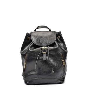 Černý kožený batoh Sofia Cardoni Sabina
