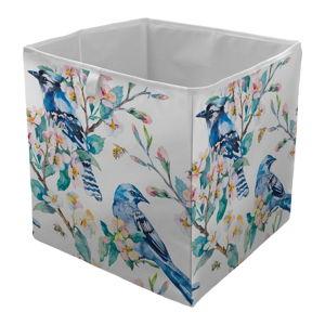 Úložný box Butter Kings Blue Birds, 32 x 32 cm