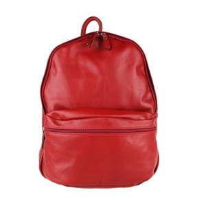 Červený kožený batoh Chicca Borse Gio