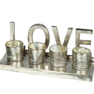 Svícen pro 4 svíčky Parlane LOVE