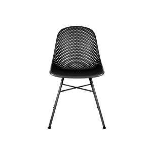 Černá jídelní židle Leitmotiv Diamond Mesh