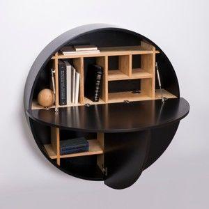 Černý multifunkční nástěnný stůl EMKO Pill