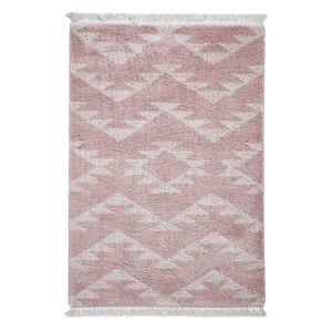 Růžový koberec Think Rugs Boho Duro Rose, 160 x 230 cm