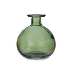 Zelená kulatá váza z recyklovaného skla Garden Trading Green, ø 11 cm