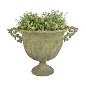 Zelená kovová váza Esschert Design