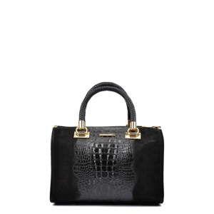 Černá kožená kabelka Isabella Rhea Elisea