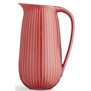 Korálově červený porcelánový džbán Kähler Design Hammershoi, 1,25 l