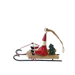 Vánoční závěsná dekorace G-Bork Santa On Sled