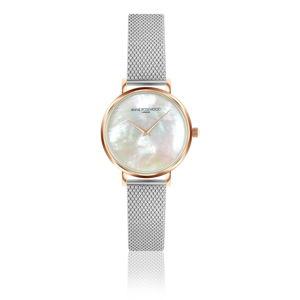 Dámské hodinky snerezovým páskem Annie Rosewood Princess Silver