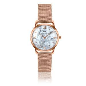 Dámské hodinky s páskem z nerezové oceli v růžovozlaté barvě Victoria Walls Mia