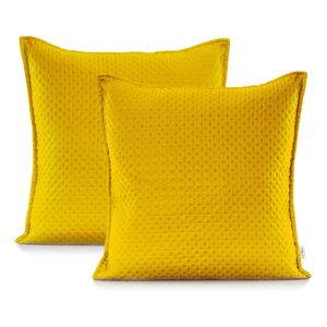 Žlutý povlak na polštář DecoKing Carmen, 45x45cm