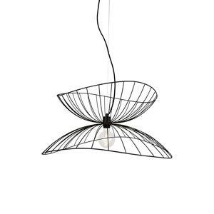Černé závěsné svítidlo GlobenLighting Ray, ø70cm