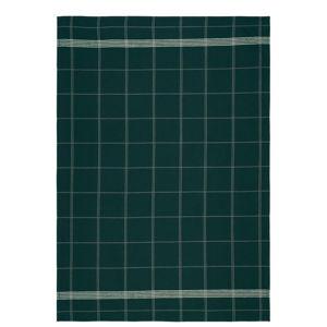Zelená kuchyňská utěrka z bavlny Södahl Geometric