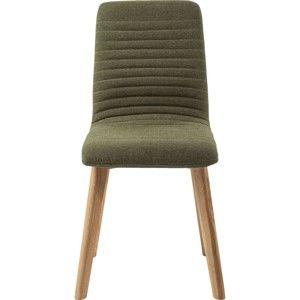 Olivově zelená židle Kare Design Lara