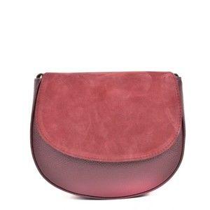 Vínová kožená kabelka Isabella Rhea Marge