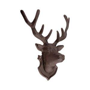 Litinová nástěnná dekorace ve tvaru jelena Esschert Design