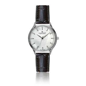 Dámské hodinky s černým páskem z pravé kůže Frederic Graff Croco Tarrio