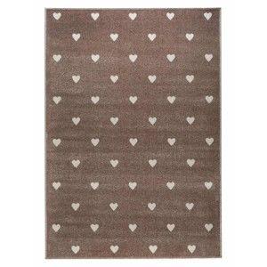 Hnědý koberec s puntíky KICOTI Beige Dots, 300 x 400 cm