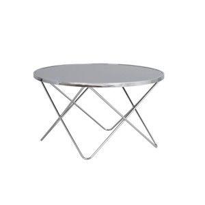 Kovový konferenční stolek se skleněnou deskou Rowico Stoke, ⌀ 85 cm