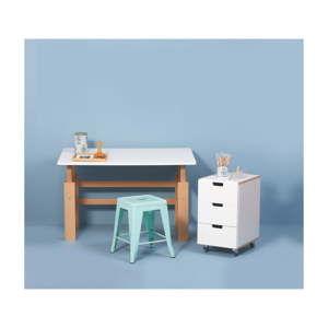 Dětský psací stůl s nastavitelnou výškou Manis-h, 140x65cm