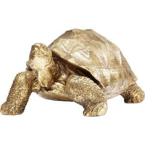 Dekorativní soška želvy ve zlaté barvě Kare Design Turtle