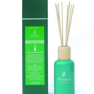 Vonný difuzér s vůní zelených citrusů a citronové trávy Parks Candles London  Aromatherapy Harmony,250ml
