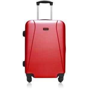 Červený cestovní kufr na kolečkách Hero Lanzarote,61l