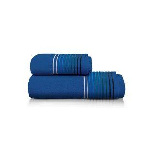 Set modré osušky a ručníku z bavlny Maison Carezza Linea