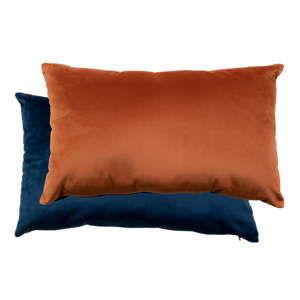 Sada modrého a oranžového se sametovým potahem House Nordic Braga, 40x60cm