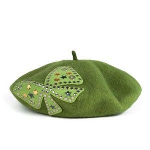 Zelený dámský vlněný baret Art of Polo