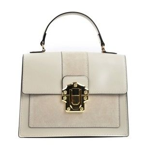 Béžová kožená kabelka IsabellaRhea Misso