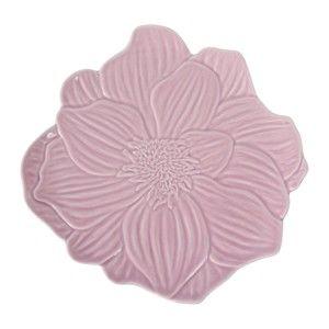 Růžový kameninový talíř Côté Table Rosal, ⌀21,5 cm