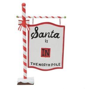 Vánoční dekorace ve tvaru cedule InArt Santa Sign