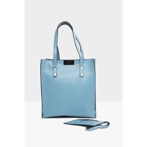 Světle modrá kabelka Mori Italian Factory Marissa