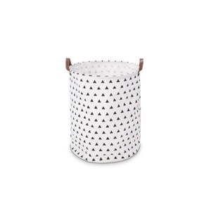 Bílý úložný košík KICOTI Triangles, ø 40cm
