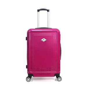 Fuchsiový cestovní kufr na kolečkách GERARD PASQUIER Piallo Valise Grand, 93l