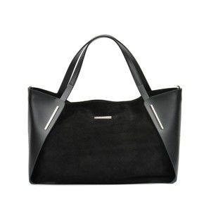 Černá kožená kabelka Mangotti Magdalena