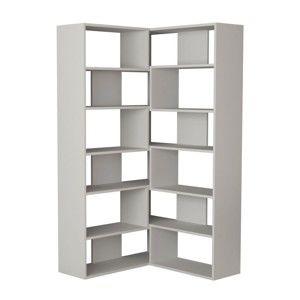 Bílá variabilní knihovna Molly, výška179cm